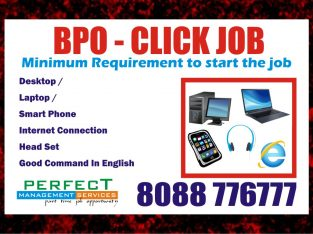 Home based BPO Click Job Payout for each click Rs. 3.50 TO Rs.10.00 PER CLI