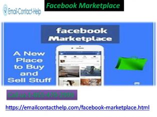 Rectify the Facebook Marketplace problems by making a call to us 1-855-479-2999