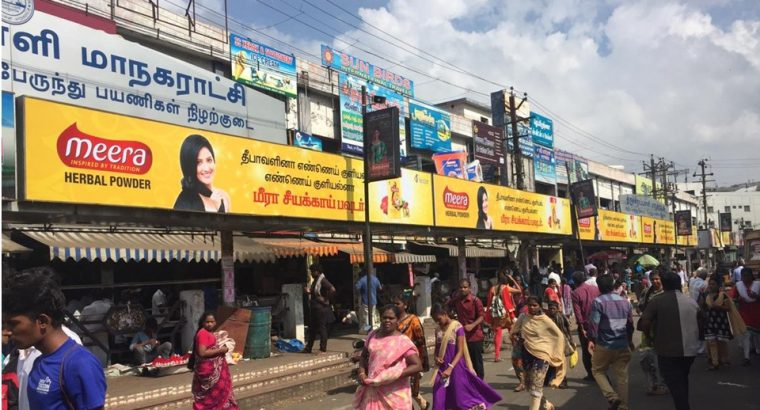 Bus Shelter Media Available at Trichy Central Bus Stand