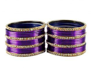 Purple Beaded Fashion Bracelets for sale