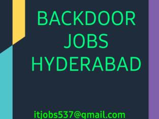 Genuine Backdoor Jobs Hyderabad